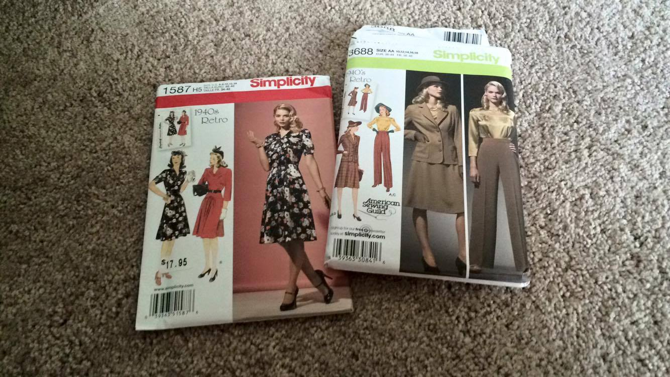 Simplicity Patterns 1587 and 3688