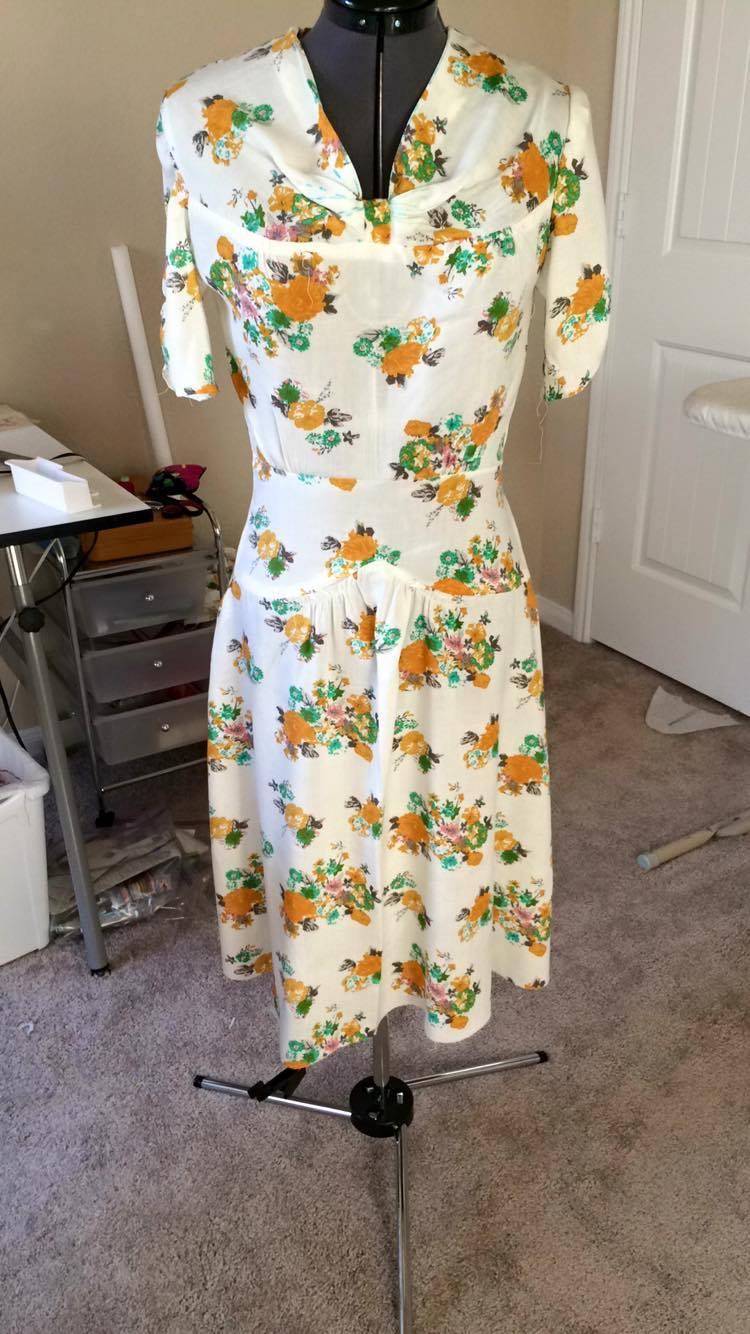 Finished 1940s Dress #2