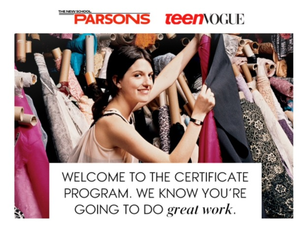 Photo Credit: Parsons and TeenVogue