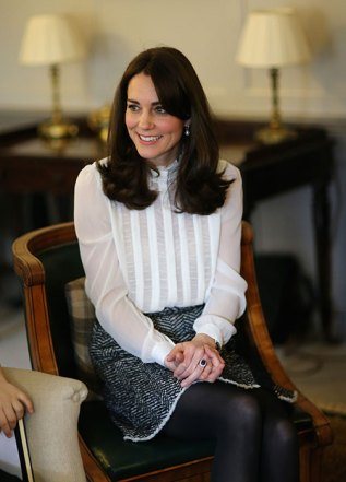 Kate Middleton Huffington Post White Blouse