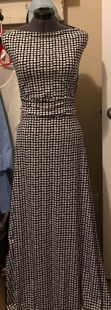 Fabric Draped on Dress Form