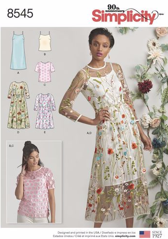 Simplicity 8545 Sheer Dress Pattern